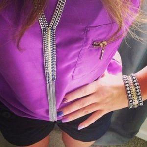 Fringe necklace by S&D